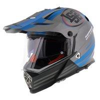 LS2 MX436 Pioneer Quarterback mat titanium blauw
