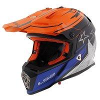 LS2 MX437 Fast Core Mat zwart glans oranje