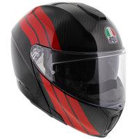 AGV Sportmodular Stripes Carbon Rood