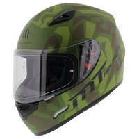 MT Mugello helm Leopard Military Groen