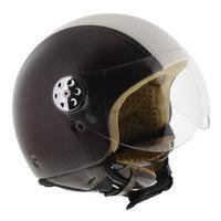 MT Retro helm leer donker bruin beige