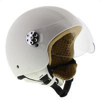 MT Retro helm Leer wit