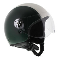 MT Retro helm Leer Italia
