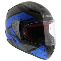 LS2 FF353 Rapid Deadbolt mat zwart blauw