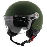MT Soul Retro helm mat groen