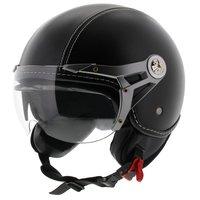 MT Soul Retro helm leer zwart