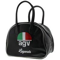 AGV Legends retro sporttas helmtas kunst leer zwart