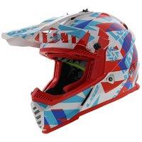 LS2 kinder crosshelm MX437 Fast EVO Mini Funky glans rood wit