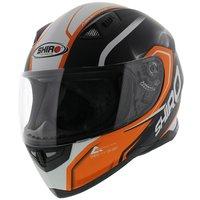 Shiro SH-881 Motegi Helmet Black Orange