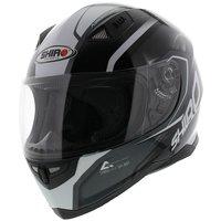 Shiro SH-881 Motegi Helmet Black White