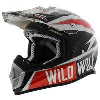 Shiro Crosshelm MX-912 Wild Wolf zwart wit rood