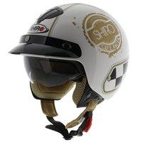 Shiro Jethelm SH-203 Café Racer wit