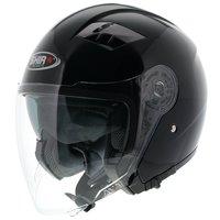 Shiro Jet Helm SH-414 Avant Glans Zwart