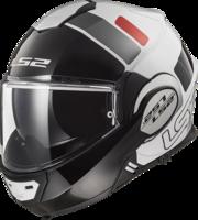 LS2 FF399 Valiant Prox wit zwart rood systeemhelm