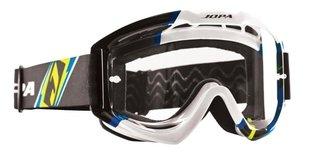 Jopa Crossbril Venom 2 Graphic zwart/wit/blauw/fluo