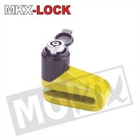 Schijfremslot MKX-Lock mini 6mm geel