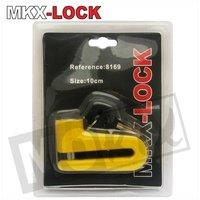 Schijfremslot MKX-Lock 10mm geel