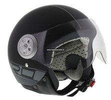 MT Urban Retro helm mat zwart op=op