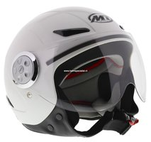 MT kinder retro helm Urban wit