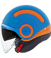Nexx Jethelm SX10 Switx Fun oranje blauw mat