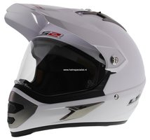 LS2 MX433 Enduro helm Single Mono glans wit