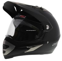 LS2 MX433 Enduro helm Single Mono mat zwart