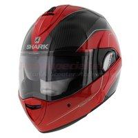 Shark Evoline 3 Pro Carbon rood wit