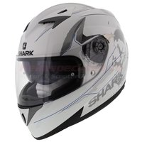 Shark integraalhelm S700-S Pinlock Naka wit/blauw/zilver