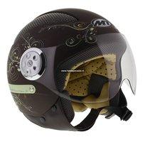 MT Urban Lady Retro helm mat bruin