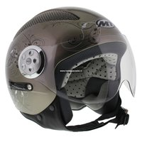 MT Urban Lady Retro helm Titanium