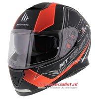 MT Thunder III SV helm Trace Oranje