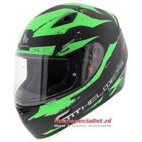MT Mugello helm Vapor zwart fluor groen