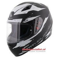 MT Mugello helm Vapor zwart wit