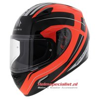 MT Mugello helm Maker Zwart Oranje