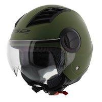 LS2 OF562 Airflow jethelm mat groen