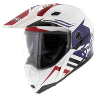 Caberg Xtrace Lux Wit Rood Blauw