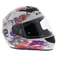 LS2 FF351 Helm Comic glans wit