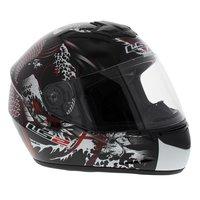 LS2 FF351 Helm Rumble glans zwart rood