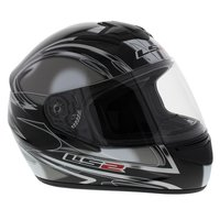 LS2 FF351 Helm Diamond glans zwart zilver