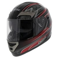 LS2 FF375 helm Garda glans zwart rood