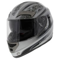 LS2 FF375 helm Garda glans zilver zwart