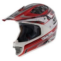 LS2 MX442 Crosshelm Airforce F2 glans rood