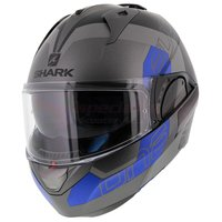 Shark Evo-One 2 Slasher mat antraciet zwart blauw