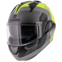 Shark Evo-One 2 Slasher mat antraciet geel zwart