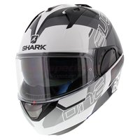 Shark Evo-One 2 Slasher wit zwart zilver