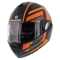 Shark Evoline 3 Corvus mat zwart antraciet oranje