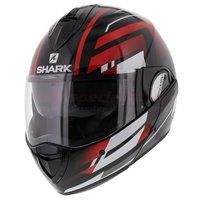 Shark Evoline 3 Corvus zwart wit rood