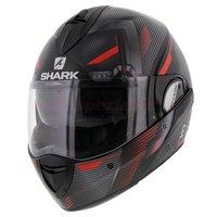 Shark Evoline 3 Shazer mat zwart rood zilver