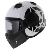 Caberg Ghost Motorhelm Doom Darkside zwart wit