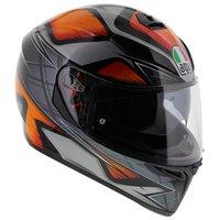 AGV K3 SV Liquefy Glans Zwart Oranje